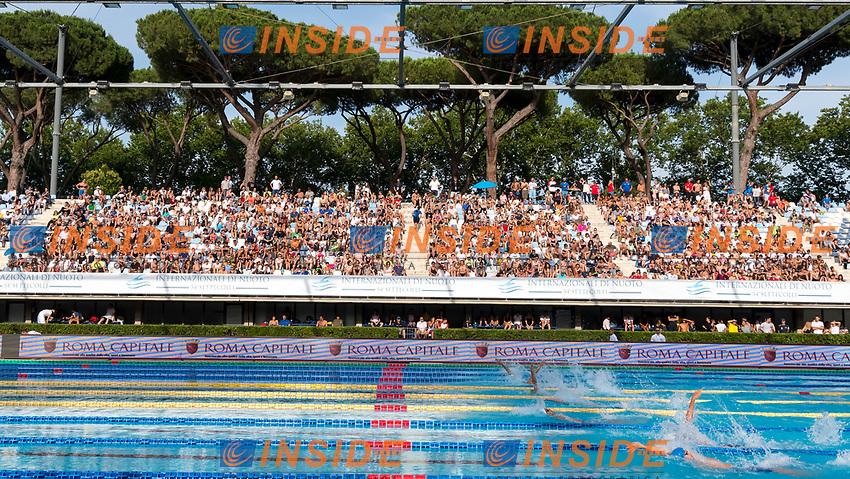 Panoramica Pubblico Allestimento Banner Roma Capitale <br /> Roma 25-06-2017 Stadio del Nuoto Foro Italico <br /> FIN 54mo Trofeo Sette Colli 2017 Internazionali d'Italia<br /> Photo Andrea Staccioli/Deepbluemedia/Insidefoto