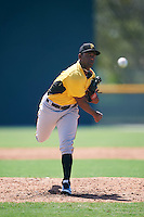 Pittsburgh Pirates pitcher Joel Cesar Toribio (94) during an Instructional League Intrasquad Black & Gold game on September 21, 2016 at Pirate City in Bradenton, Florida.  (Mike Janes/Four Seam Images)