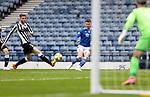 St Mirren v St Johnstone…09.05.21  Scottish Cup Semi-Final Hampden Park <br />Glenn Middleton crosses the ball for Chris Kane to score the opening goal<br />Picture by Graeme Hart.<br />Copyright Perthshire Picture Agency<br />Tel: 01738 623350  Mobile: 07990 594431