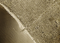 historical aerial photograph of Santa Monica, California, 1947