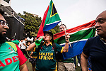 Fans of South Africa team celebrate for their team winning the champion at the Hong Kong Cricket World Sixes 2017 Award Presentation at Kowloon Cricket Club on 29 October 2017, in Hong Kong, China. Photo by Yu Chun Christopher Wong / Power Sport Images