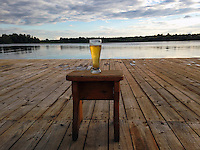 Gruzdovo, Russia, 23/07/2013.<br /> Lakeside beer at  the Volyn Country Club.