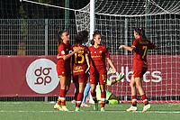 4th September 2021; Agostino di Bartolomei Stadium, Rome, Italy; Serie A womens championship football, AS Roma versus Napoli ; Manuela Giugliano of Roma celebrates after scoring her goal