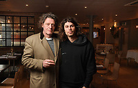 BNPS.co.uk (01202 558833)<br /> Pic: ZacharyCulpin/BNPS<br /> <br /> Pictured: Marco Pierre White and son Luciano Pierre White<br /> <br /> Celebrity chef Marco Pierre White is selling his £90,000 collection of highly sought-after 'Mouseman' furniture that has graced his country hotel.<br /> <br /> The items were created by Robert 'Mousey' Thompson who earned his nickname by carving a small mouse somewhere into each piece of oak furniture he made.<br /> <br /> Marco Pierre White began collecting Mouseman furniture many years ago and installed it in his Rudloe Arms hotel in Wiltshire.<br /> <br /> The Michelin starred-chef has acquired so much of it that some of the items are now surplus to requirement.