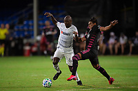 LAKE BUENA VISTA, FL - JULY 27: Bradley Wright-Phillips #66 of LAFC dribbles the ball during a game between Seattle Sounders FC and Los Angeles FC at ESPN Wide World of Sports on July 27, 2020 in Lake Buena Vista, Florida.