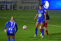 Gent's forward Jolet Lommen (9) pictured during a female soccer game between  AA Gent Ladies and Femina White Star Woluwe on the third matchday of the 2020 - 2021 season of Belgian Scooore Womens Super League , friday 2 nd of October 2020  in Oostakker , Belgium . PHOTO SPORTPIX.BE | SPP | STIJN AUDOOREN