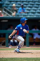 Tennessee Smokies Christian Donahue (6) at bat during a Southern League game against the Jacksonville Jumbo Shrimp on April 29, 2019 at Baseball Grounds of Jacksonville in Jacksonville, Florida.  Tennessee defeated Jacksonville 4-1.  (Mike Janes/Four Seam Images)