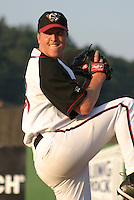 August 25, 2003:  Pitcher Tom Gorzelanny of the Williamsport Crosscutters, Short Season Class-A affiliate of the Pittsburgh Pirates, during a NY-Penn League game at Bowman Field in Williamsport, PA.  Photo by:  Mike Janes/Four Seam Images