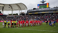 CARSON, CA - FEBRUARY 9: USWNT and Canada beginning walkout during a game between Canada and USWNT at Dignity Health Sports Park on February 9, 2020 in Carson, California.