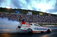 Jul. 19, 2013; Morrison, CO, USA: NHRA funny car driver Bob Tasca III during qualifying for the Mile High Nationals at Bandimere Speedway. Mandatory Credit: Mark J. Rebilas-