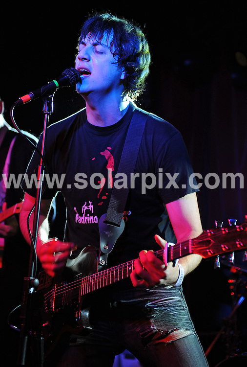 **ALL ROUND PICTURES FROM SOLARPIX.COM**.**WORLDWIDE SYNDICATION RIGHTS**.New wave rockers Five O'Clock Heroes play one-off London gig at The Water Rats, 328 Grays Inn Road, London, UK. Thursday, February 26 2009..This pic: Five O'Clock Heroes..JOB REF: 8561 SSD     DATE: 26_02_2009.**MUST CREDIT SOLARPIX.COM OR DOUBLE FEE WILL BE CHARGED**.**ONLINE USAGE FEE  GBP 50.00 PER PICTURE - NOTIFICATION OF USAGE TO PHOTO @ SOLARPIX.COM**