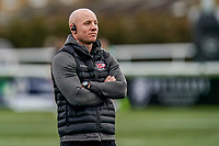 Harvey Biljon, Head Coach of Jersey Reds during the Championship Cup QF match between Ealing Trailfinders and Jersey Reds at Castle Bar, West Ealing, England  on 22 February 2020. Photo by David Horn.