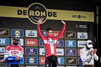 Kasper Asgreen (DEN/Deceuninck - Quick Step) wins the 105th Ronde van Vlaanderen 2021 (MEN1.UWT)<br /> Mathieu Van der Poel (NED/Alpecin-Fenix) finishes 2nd & Greg Van Avermaet (BEL/AG2R Citroën) 3rd<br /> <br /> 1 day race from Antwerp to Oudenaarde (BEL/264km) <br /> <br /> ©kramon
