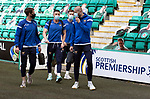 Hibs v St Johnstone…01.05.21  Easter Road. SPFL<br />Craig Bryson, Michael O'Halloran, Jamie McCart and Shaun Rooney arrive at Easter Road for todays game against Hibs<br />Picture by Graeme Hart.<br />Copyright Perthshire Picture Agency<br />Tel: 01738 623350  Mobile: 07990 594431