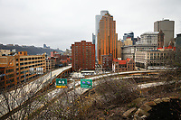 on Friday March 27, 2020 in Pittsburgh, Pennsylvania. (Photo by Jared Wickerham/Pittsburgh City Paper)