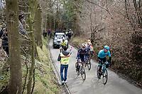 breakaway group up the Eikenmolen<br /> <br /> 72nd Kuurne-Brussel-Kuurne 2020 (1.Pro)<br /> Kuurne to Kuurne (BEL): 201km<br /> <br /> ©kramon