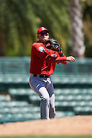 Boston Red Sox third baseman Imeldo Diaz (3) during an Instructional League game against the Baltimore Orioles on September 22, 2016 at the Ed Smith Stadium in Sarasota, Florida.  (Mike Janes/Four Seam Images)