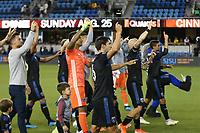 SAN JOSE, CA - AUGUST 03: San Jose Earthquakes   during a Major League Soccer (MLS) match between the San Jose Earthquakes and the Columbus Crew on August 03, 2019 at Avaya Stadium in San Jose, California.