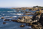 Mendocino Coastline, rocks and ocean waves