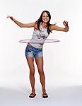 Girl using hoola-hoop