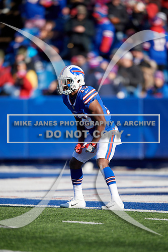 Buffalo Bills Isaiah McKenzie (19) awaits a kick during an NFL football game against the New York Jets, Sunday, December 9, 2018, in Orchard Park, N.Y.  (Mike Janes Photography)