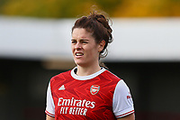 Jennifer Beattie of Arsenal during Brighton & Hove Albion Women vs Arsenal Women, Barclays FA Women's Super League Football at Broadfield Stadium on 11th October 2020
