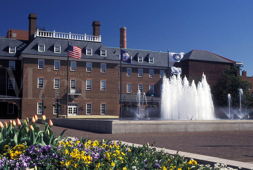 Alexandria, VA, Virginia, City Hall in downtown Alexandria.