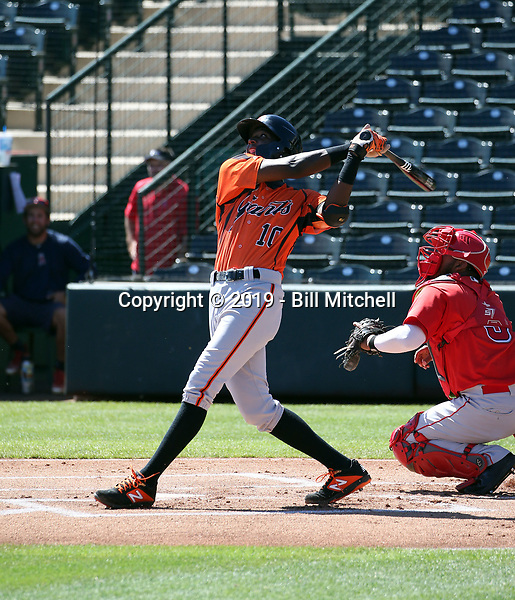 Marco Luciano - San Francisco Giants 2019 extended spring training (Bill Mitchell)