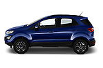 Car driver side profile view of a 2018 Ford Ecosport Business Class 5 Door SUV