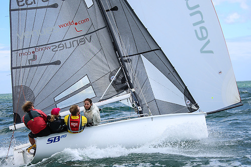 There is a buoyant SB20 entry for Ireland's biggest regatta on Dublin Bay this July Photo: Afloat