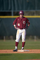 Boston College Eagles center fielder Michael Strem (10) during a game against the Indiana State Sycamores on February 27, 2016 at North Charlotte Regional Park in Port Charlotte, Florida.  Boston College defeated Indiana State 5-3.  (Mike Janes/Four Seam Images)