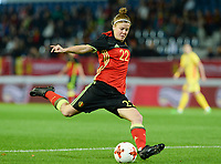 20171020 - LEUVEN , BELGIUM : Belgian Laura Deloose pictured during the female soccer game between the Belgian Red Flames and Romania , the second game in the qualificaton for the World Championship qualification round in group 6 for France 2019, Friday 20 th October 2017 at OHL Stadion Den Dreef in Leuven , Belgium. PHOTO SPORTPIX.BE | DAVID CATRY