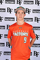 Garrett Taylor (9) of Sage Creek High School in Escondido, California during the Baseball Factory All-America Pre-Season Tournament, powered by Under Armour, on January 12, 2018 at Sloan Park Complex in Mesa, Arizona.  (Mike Janes/Four Seam Images)