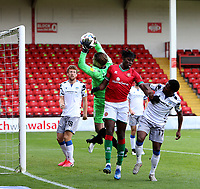 10th October 2020; Bescot Stadium, Walsall, West Midlands, England; English Football League Two, Walsall FC versus Colchester United; Elijah Debayo of Walsall attacks the goal