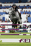 Equestrian - Showjumping - Meydan FEI Nations Cup.Nick Skelton (GBR) aboard Carlo in action during the Meydan FEI Nations Cup at the Royal Dublin Society (RDS) in Dublin.