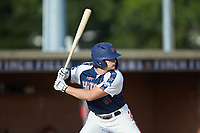 Will Schroeder (18) (UNC) of the High Point-Thomasville HiToms at bat against the Deep River Muddogs at Finch Field on June 27, 2020 in Thomasville, NC.  The HiToms defeated the Muddogs 11-2. (Brian Westerholt/Four Seam Images)