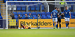 St Johnstone v Motherwell…28.09.19   McDiarmid Park   SPFL<br />Devante Cole reacts after putting the ball over the bar<br />Picture by Graeme Hart.<br />Copyright Perthshire Picture Agency<br />Tel: 01738 623350  Mobile: 07990 594431