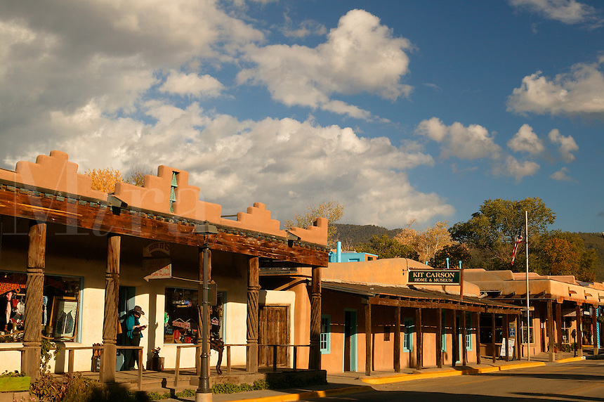 A street in Taos, New Mexico