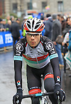 Maxime Monfort (BEL) at the sign on before the start of the 104th edition of the Milan-San Remo cycle race at Castello Sforzesco in Milan, 17th March 2013 (Photo by Eoin Clarke 2013)