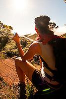 Hiking the Alakai Swamp Trail in the Napali Kona Forest Reserve, Waimea Canyon, Kauai, Hawaii