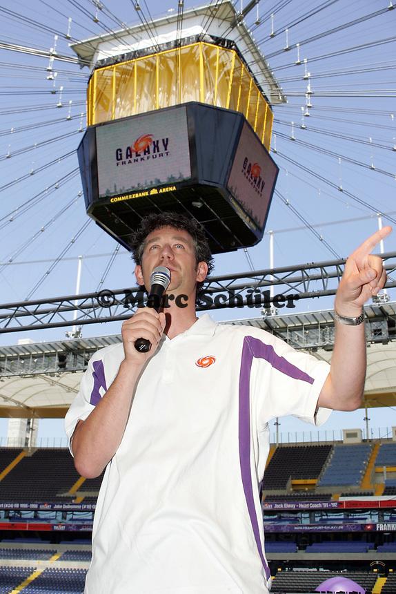 Frankfurt Galaxy Stadionsprecher Steffen Popp
