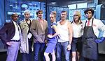 "Royston Scott, Colleen O'Neill, Greg Zuccolo, Heather Litteer, David Ilku, Nora Burns, Justin Law from the Cast of ""Tony Stinkmetal's SlashR""on September 14, 2018 at the Gene Frankel Theatre in New York City."
