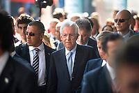 il presidente del Consiglio  Mario Monti in visita al Meeting di Comunione e liberazione 2012
