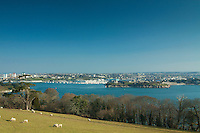 Plymouth and Plymouth Sound from Mount Edgcumbe Country Park