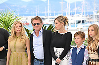 CANNES, FRANCE. July 11, 2021: Katheryn Winnick, Sean Penn, Dylan Penn, Beckham Crawford & Jaydn Rylee at the photocall for Flag Day at the 74th Festival de Cannes.<br /> Picture: Paul Smith / Featureflash