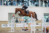 NZL-Emily Hayward rides Centino. Final-1st. Class 29: Fiber Fresh Horse 1.40m-1.45m 10K - FINAL. 2021 NZL-Easter Jumping Festival presented by McIntosh Global Equestrian and Equestrian Entries. NEC Taupo. Sunday 4 April. Copyright Photo: Libby Law Photography