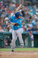 Amarillo Sod Poodles Kyle Overstreet (3) bats during a Texas League game against the Frisco RoughRiders on July 13, 2019 at Dr Pepper Ballpark in Frisco, Texas.  (Mike Augustin/Four Seam Images)