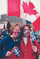 1995 FILE PHOTO - ARCHIVES -<br /> <br /> Rally at Nathan Phillips Sq<br /> <br /> 1995<br /> <br /> PHOTO : Boris Spremo - Toronto Star Archives - AQP