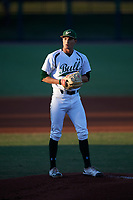 USF Bulls starting pitcher Shane McClanahan (8) delivers a pitch during a game against the UConn Huskies on March 23, 2018 at USF Baseball Stadium in Tampa, Florida.  UConn defeated USF 6-4.  (Mike Janes/Four Seam Images)