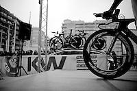 on the start podium<br /> <br /> 3 Days of West-Flanders 2014<br /> day 1: TT/prologue Middelkerke 7,0 km